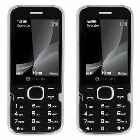 Mercury F37 Heavy Battery Dual Sim Mobile Phone in black colour combo