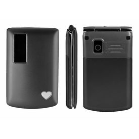 F-FOOK A7 Flip Phone (Black Colour)