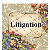Litigation and Legal Issues! Law troubles, pink paper, 1