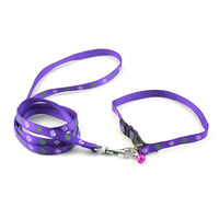 Easypets CASUAL Nylon Adjustable Quick-Klip Dog Collars with bell (Medium) (Purple)