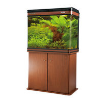BOYU LZ-810 Fish Tank (Brown), tank with cabinet