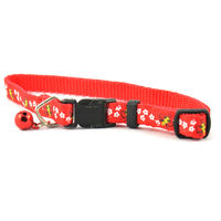 Easypets Fancy Cat collar and bell (Red)