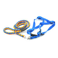 Easypets TRUECHOICE Adjustable Braided Round Rope Dog Leash (Large) (Blue)