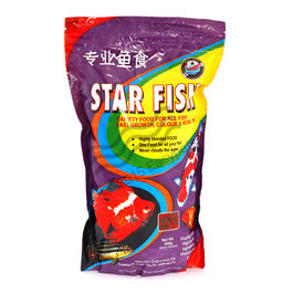 Star Fish - Fish Food (500 Grams) (Pack of 2) , 1 mm, 1 mm