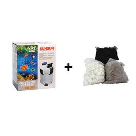 SunSun HW - 302 Outside Filter / External Filter / Canister Filter With Filter Media, premium