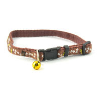 Easypets Fancy Cat collar and bell (Brown)