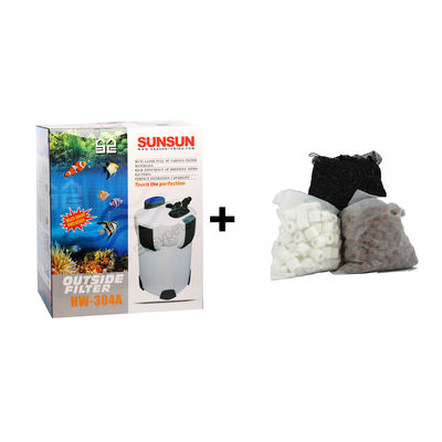 SunSun HW 304A External filter Canister Filter Outside Filter With Media, normal