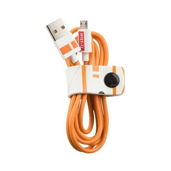 TRIBE MICRO USB CABLE 1.2 M BB8,  orange
