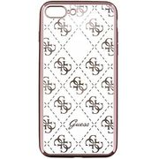 GUESS IPHONE 7 PLUS / 8 PLUS BACK CASE CLEAR ROSE GOLD