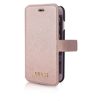 GUESS IPHONE 7 / IPHONE 8 CLUTCH CASE,  shiny beige