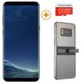 SAMSUNG GALAXY S8 PLUS with 128GBCard and KickTok Cover,  black