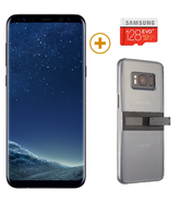 SAMSUNG GALAXY S8 PLUS with 128GBCard and KickTok Cover,  black