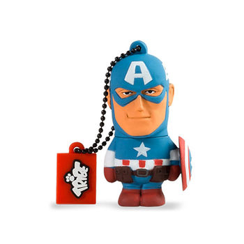 TRIBE USB FLASH DRIVE 16GB CAPTAIN AMERICA,  blue