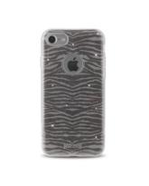 JUST CAVALLI iPhone 7 TPU Back Case Leo Zebra,  silver