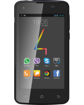 FOUR FS50 4INCH 4GB 3G 512MB DUAL SIM,  black