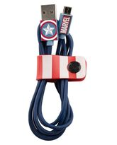 TRIBE MICRO USB CABLE 1.2 M CAPTAIN AMERICA,  blue