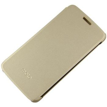 LENOVO MOTO E PLUS FLIP COVER,  gold