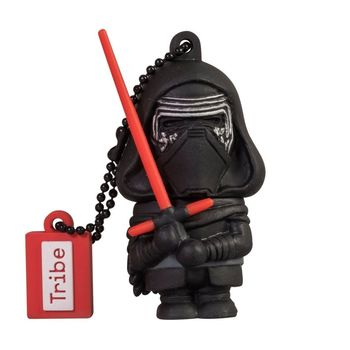 TRIBE USB FLASH DRIVE 16GB STAR WARS TFA KYLO REN,  black