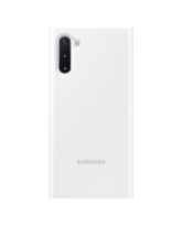 SAMSUNG NOTE 10 CLEAR VIEW COVER,  white