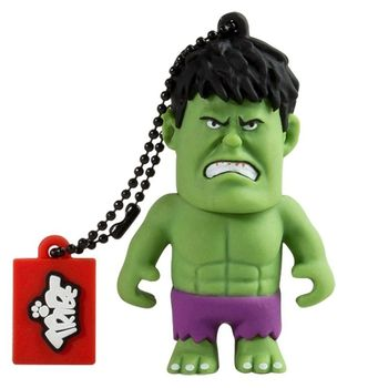 TRIBE USB FLASH DRIVE 16GB HULK,  green