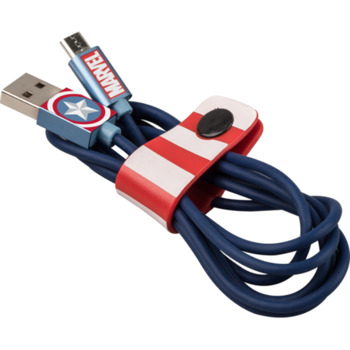 TRIBE MFI LIGHTNING CABLE 1.2 M CAPTAIN AMERICA,  blue