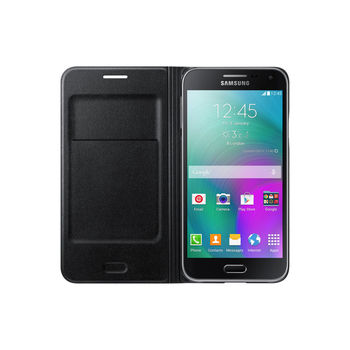 SAMSUNG GALAXY E5 FLIP WALLET,  black