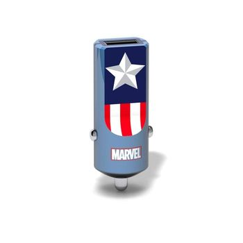 TRIBE MONO USB CAR CHARGER 2.4A CAPTAIN AMERICA,  blue
