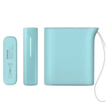 SAMSUNG BATTERY PACK KETTLE DESIGN 10200 mAh,   mint blue