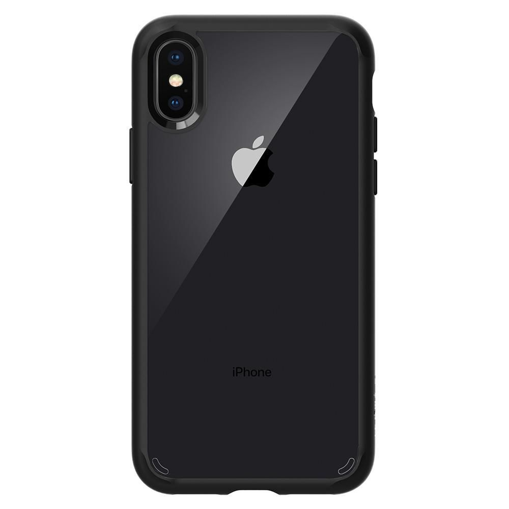 superior quality 8a832 6c924 SPIGEN IPHONE X BACK CASE HYBRID, matte black