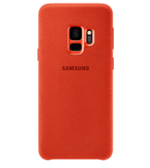 SAMSUNG S9 ALCANTARA COVER,  red