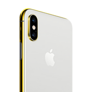 24K GOLD PLATED APPLE IPHONE XS,  silver, 512gb