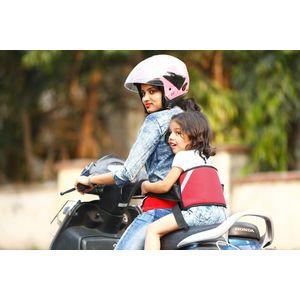 KID SAFE BELT - Two Wheeler Child Safety Belt - World's 1st Trusted & Leading (Sport Red), red