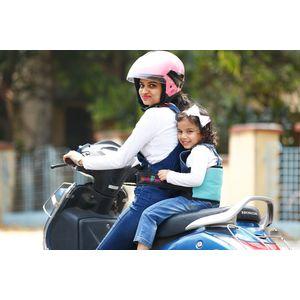 KID SAFE BELT - Two Wheeler Child Safety Belt - World's 1st Trusted & Leading (Sport Sky Blue), blue