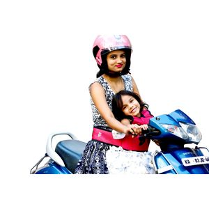KIDSAFE BELT - Two Wheeler Child Safety Belt - World's 1st, Trusted & Leading (Cool Pink Butterfly), pink