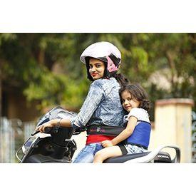 KID SAFE BELT - Two Wheeler Child Safety Belt - World s 1st Trusted & Leading (Sport Royal Blue), blue
