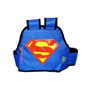 KIDSAFE BELT - Two Wheeler Child Safety Belt - World's 1st, Trusted & Leading (Cool Blue Superman), blue