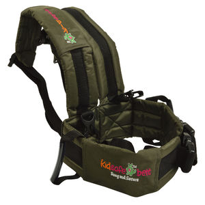 KIDSAFEBELT - Two Wheeler Child Safety Belt - World's 1st, Trusted & Leading (Air Dark Green), green