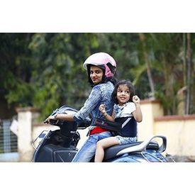 KID SAFE BELT - Two Wheeler Child Safety Belt - World s 1st Trusted & Leading (Sport Navy Blue), blue