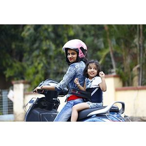 KID SAFE BELT - Two Wheeler Child Safety Belt - World's 1st Trusted & Leading (Sport Navy Blue), blue