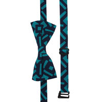 Blue Aztec Print Bow Tie