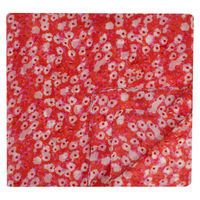 Bright Red Extra Long Floral Pocket Square