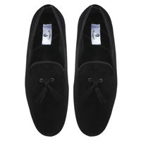 Chasquido Black Slip-ons with Black Tassels, 10