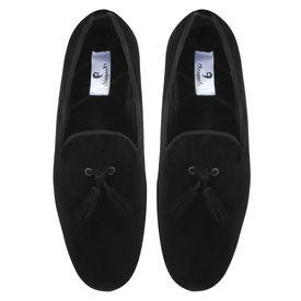 Chasquido Black Slip-ons with Black Tassels, 10
