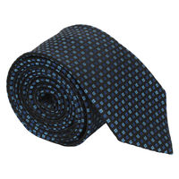 Navy Pin Check Tie