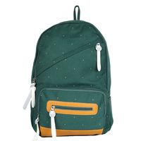 Green Pindot Print Backpack