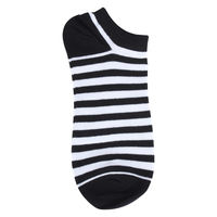 Black/White Striped Low Cut Socks