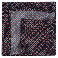 Navy Diamond Pattern Pocket Square