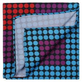 Multicolour Round Geometric Pattern Pocket Square