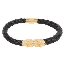 Chasquido Gold/Black Twin Skull Bracelet, m