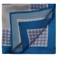 Grey/Blue Dot Pattern Pocket Square